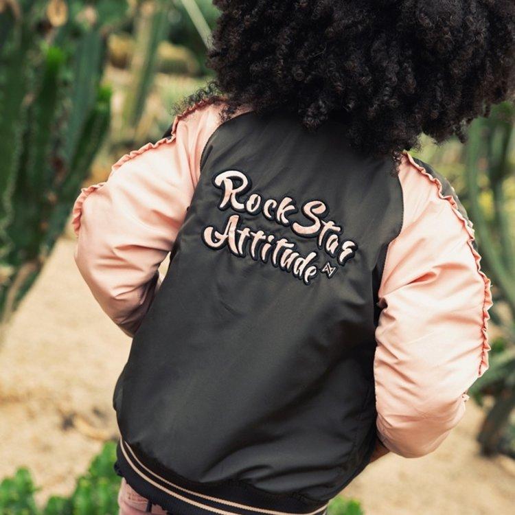 Koko Noko girls jacket dark grey pink | E38915-37