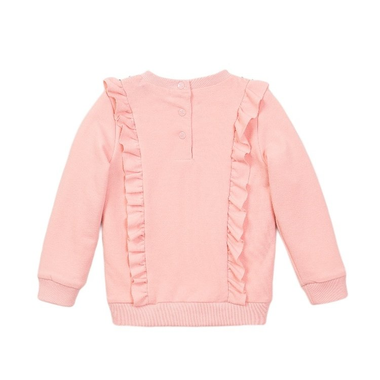 Koko Noko Mädchen Pullover rosa Rüschen | E38916-37