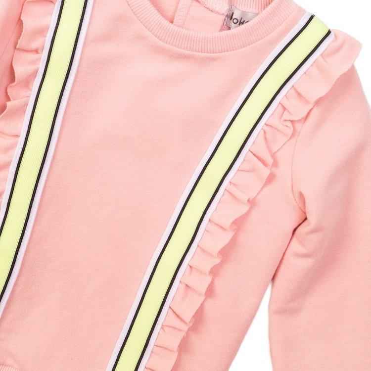 Koko Noko meisjes sweater roze ruches   E38916-37