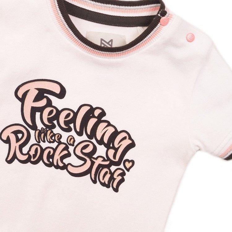 Koko Noko meisjes T-shirt wit   E38918-37