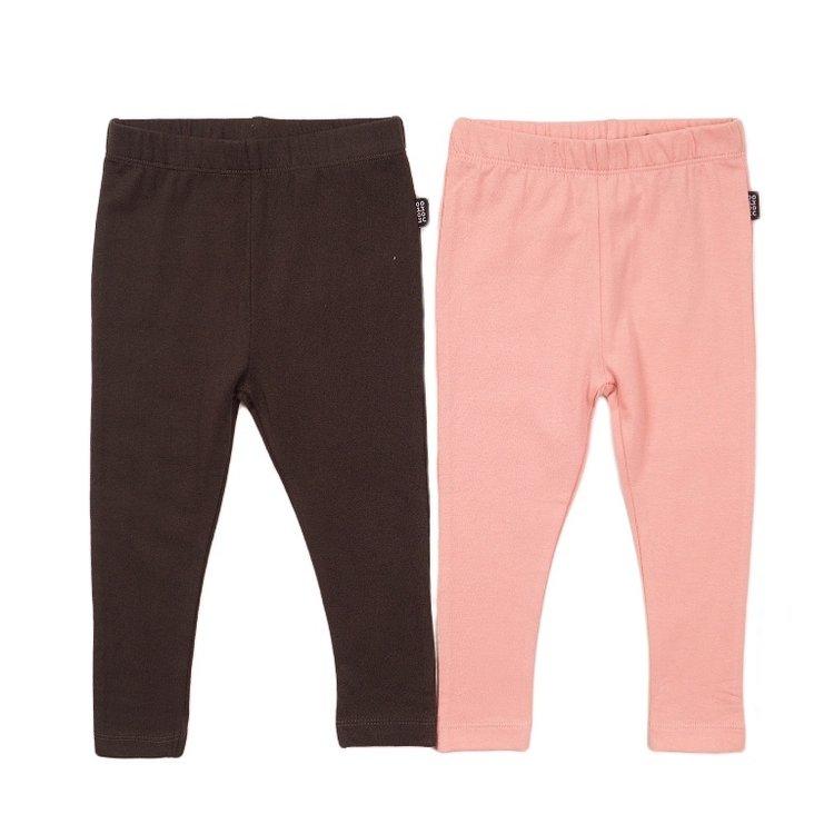 Koko Noko girls leggings 2-pack dark grey and pink | E38920-37