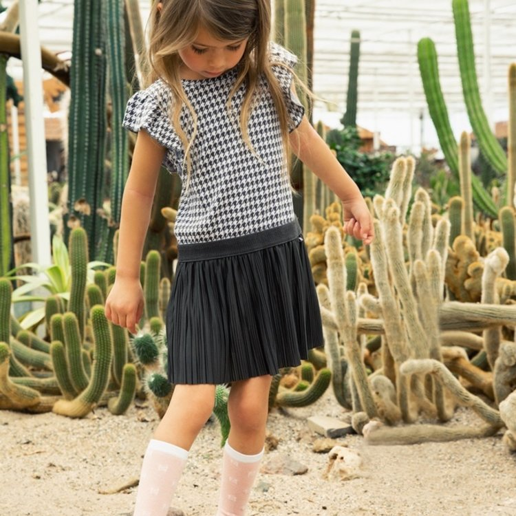Koko Noko girls socks 2 pack white pink | E38926-37
