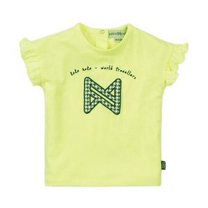 Koko Noko girls T-shirt neon yellow