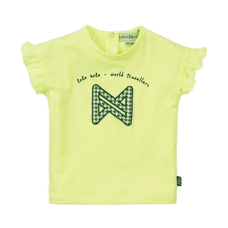Koko Noko Mädchen T-shirt neon gelb | E38927-37