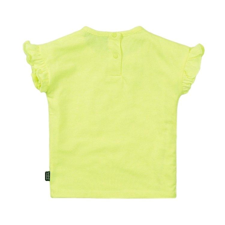 Koko Noko meisjes T-shirt neon geel | E38927-37
