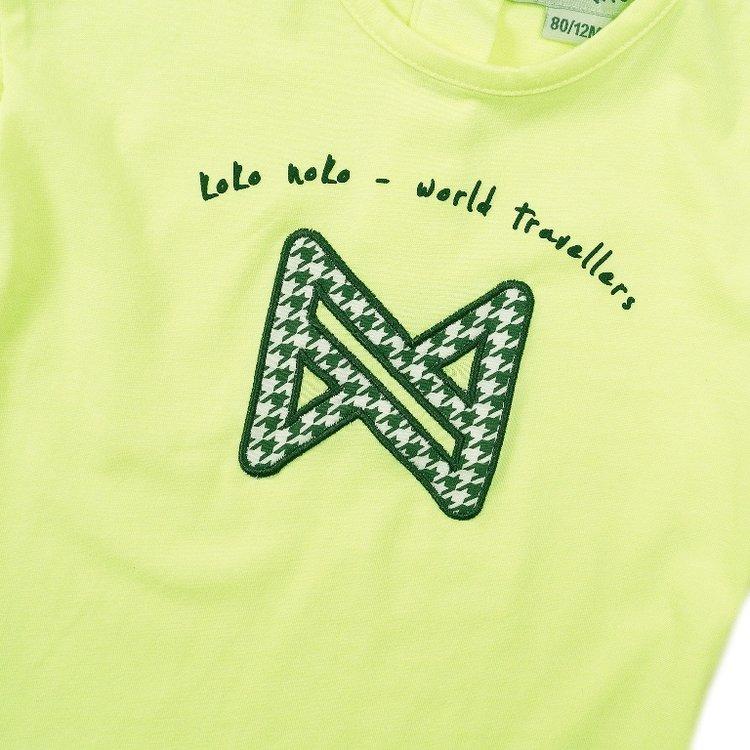 Koko Noko girls T-shirt neon yellow | E38927-37