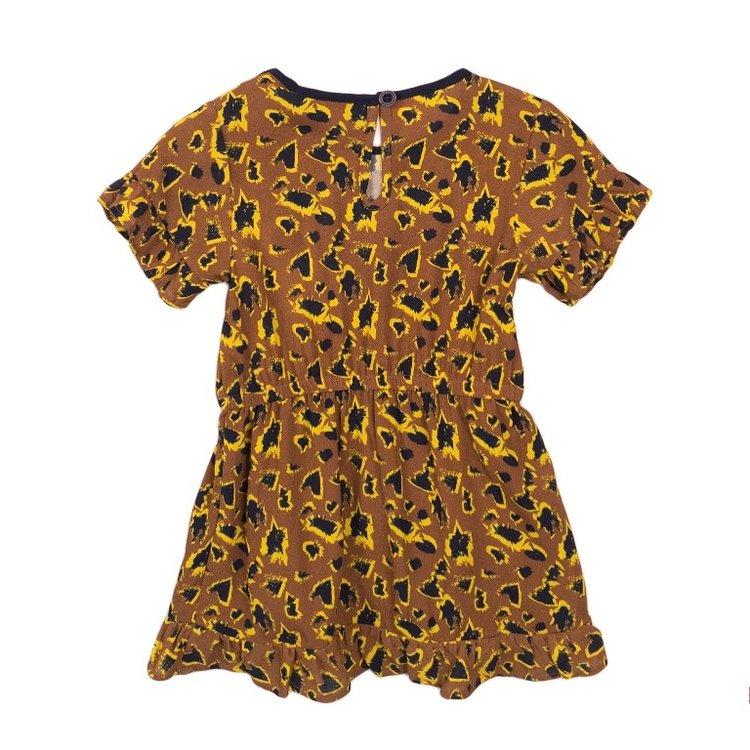 Koko Noko meisjes jurk camel   E38934-37