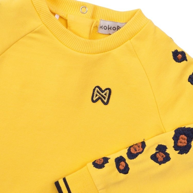 Koko Noko meisjes sweater geel | E38937-37
