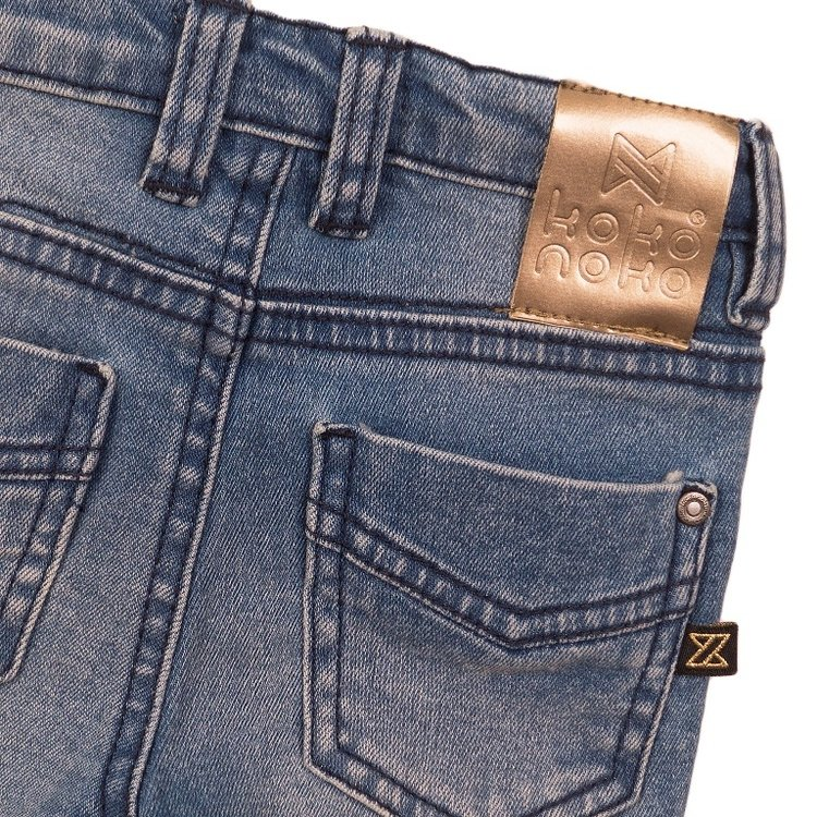 Koko Noko girls jeans blue with pink label | E38938-37