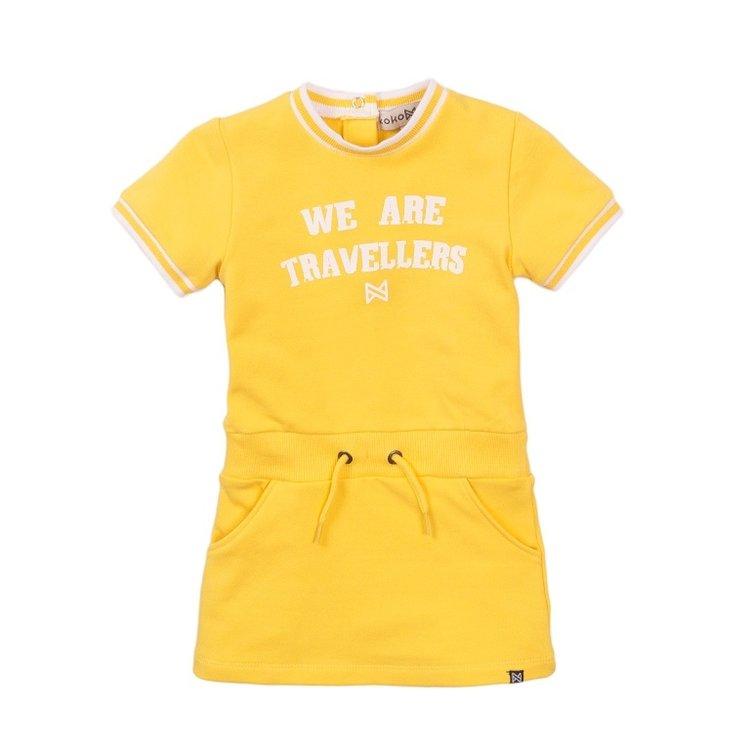 Koko Noko meisjes jurk geel | E38942-37