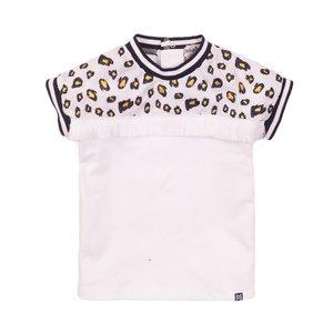 Koko Noko meisjes T-shirt wit mesh