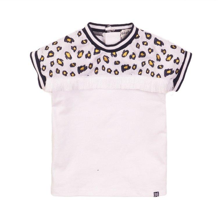 Koko Noko Mädchen-T-Shirt weißes Netz | E38943-37