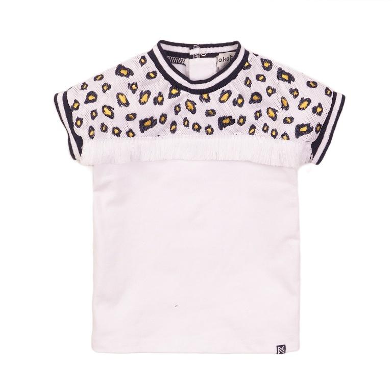 Koko Noko Koko Noko Meisjes T-shirt Wit Mesh Wit, Geel