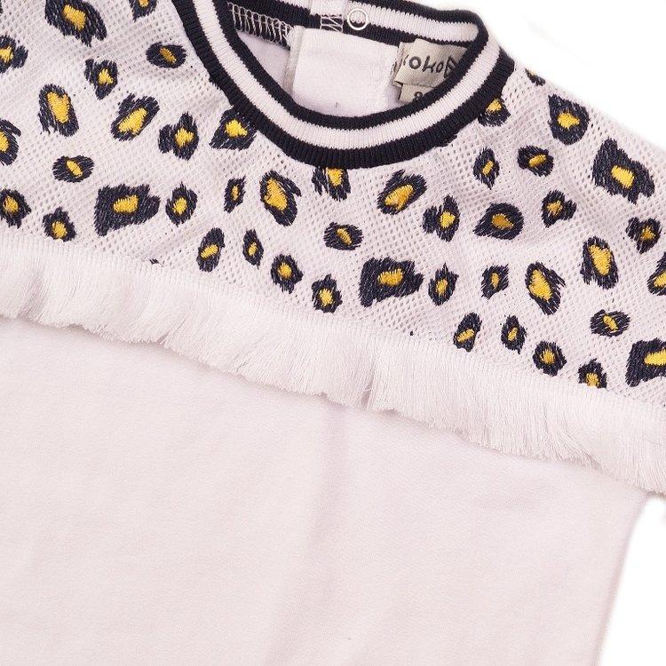 Koko Noko meisjes T-shirt wit mesh | E38943-37