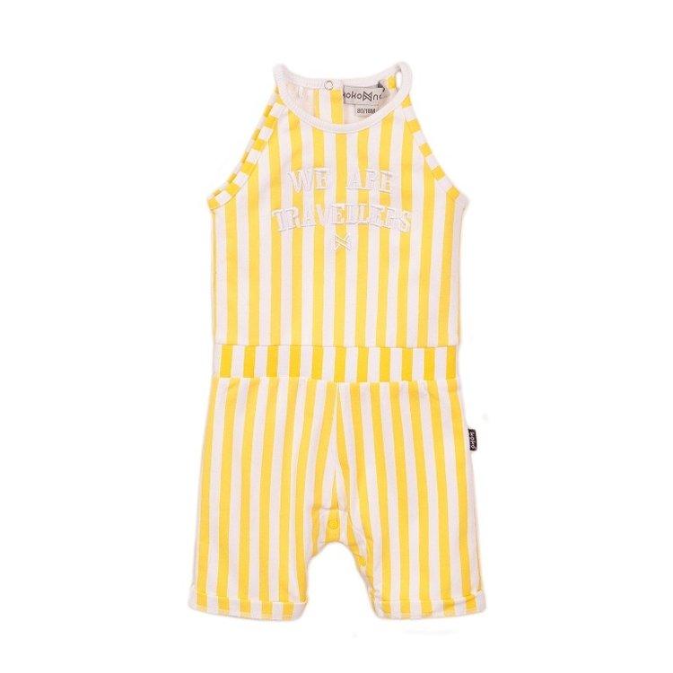 Koko Noko girls jumpsuit in yellow white   E38945-37