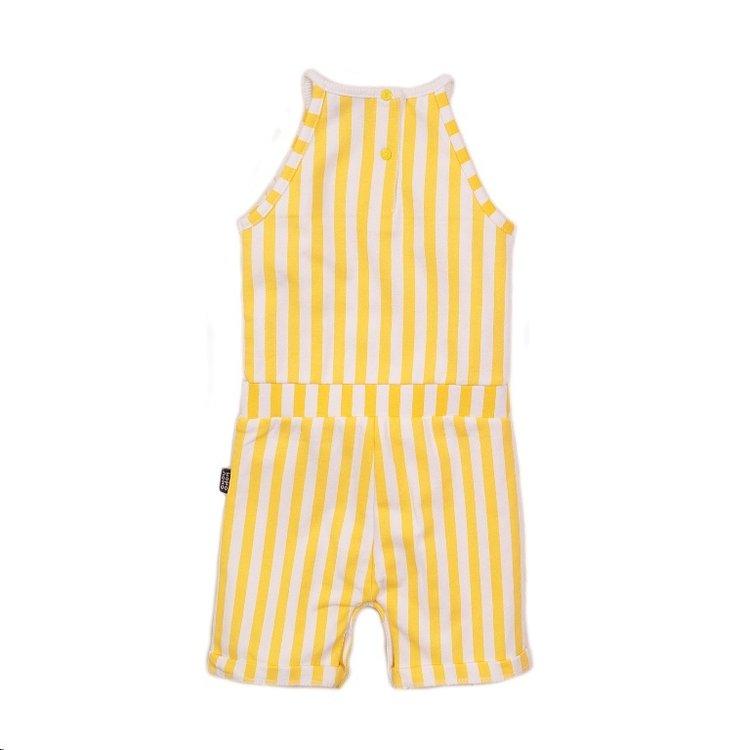Koko Noko Mädchen Jumpsuit in gelb weiß | E38945-37