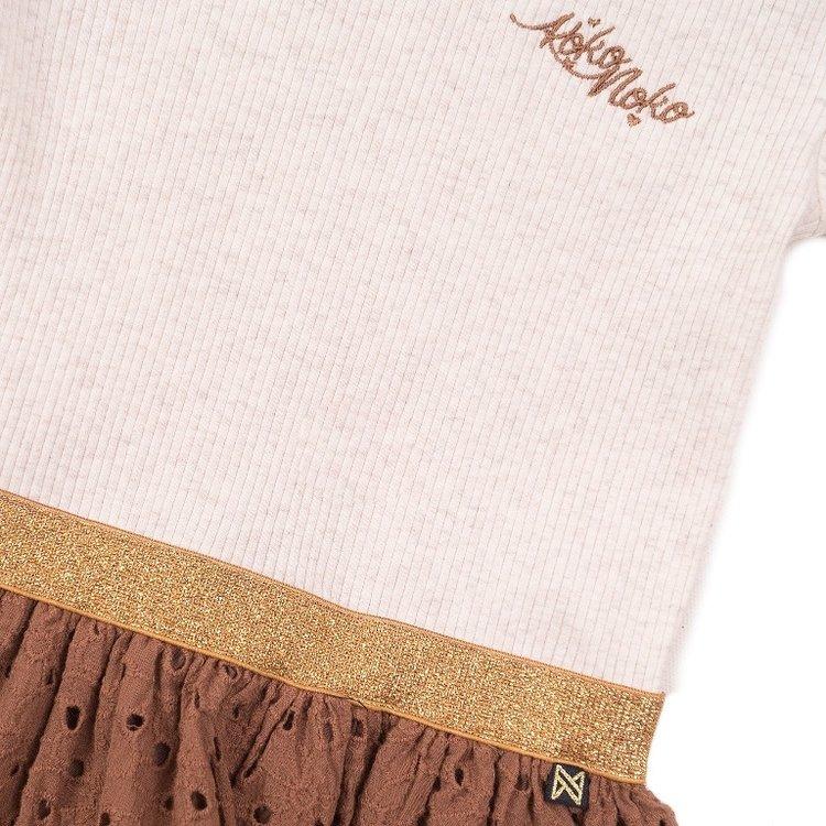 Koko Noko girls dress beige camel   E38946-37