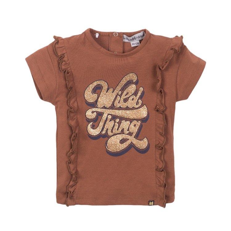 Koko Noko girls camel T-shirt ruffles   E38947-37