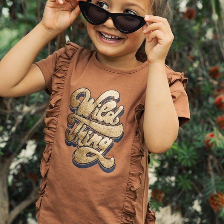 Koko Noko Mädchen Kamel T-shirt Rüschen | E38947-37