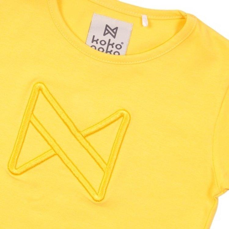 Koko Noko meisjes T-shirt geel | E38969-37
