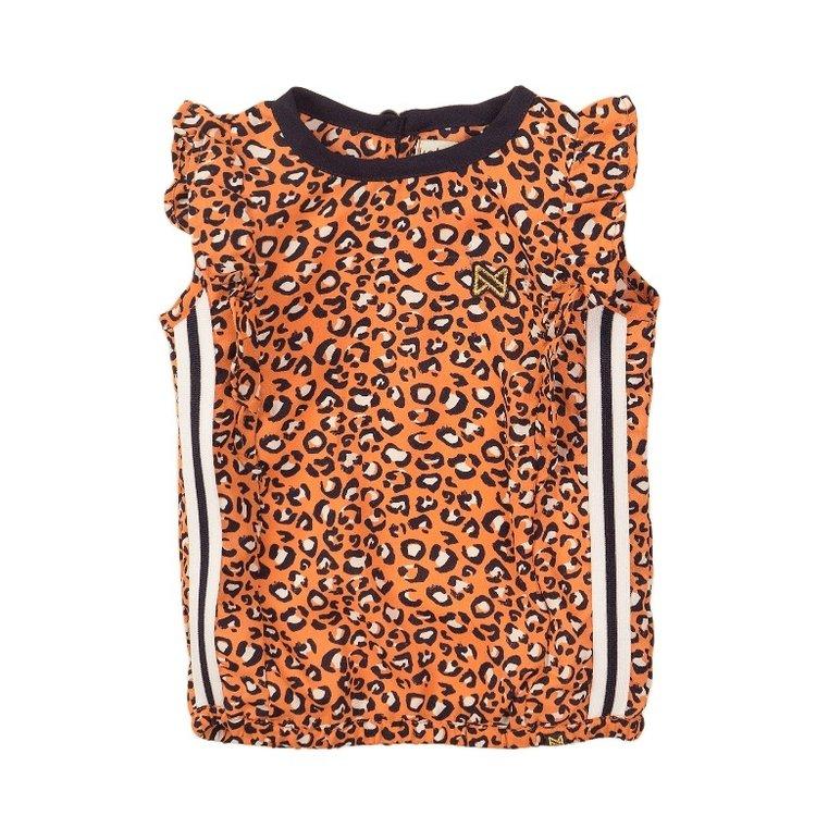 Koko Noko girls top orange panther | E38950-37