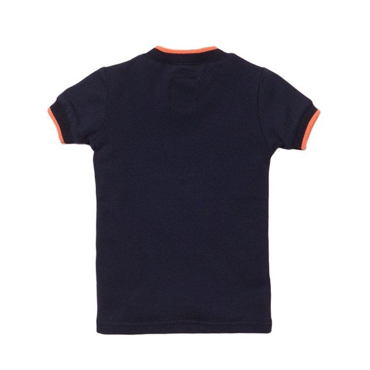 Koko Noko meisjes T-shirt navy | E38952-37