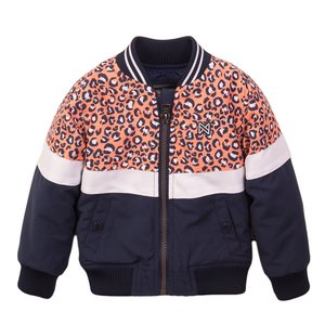 Koko Noko girls jacket orange navy
