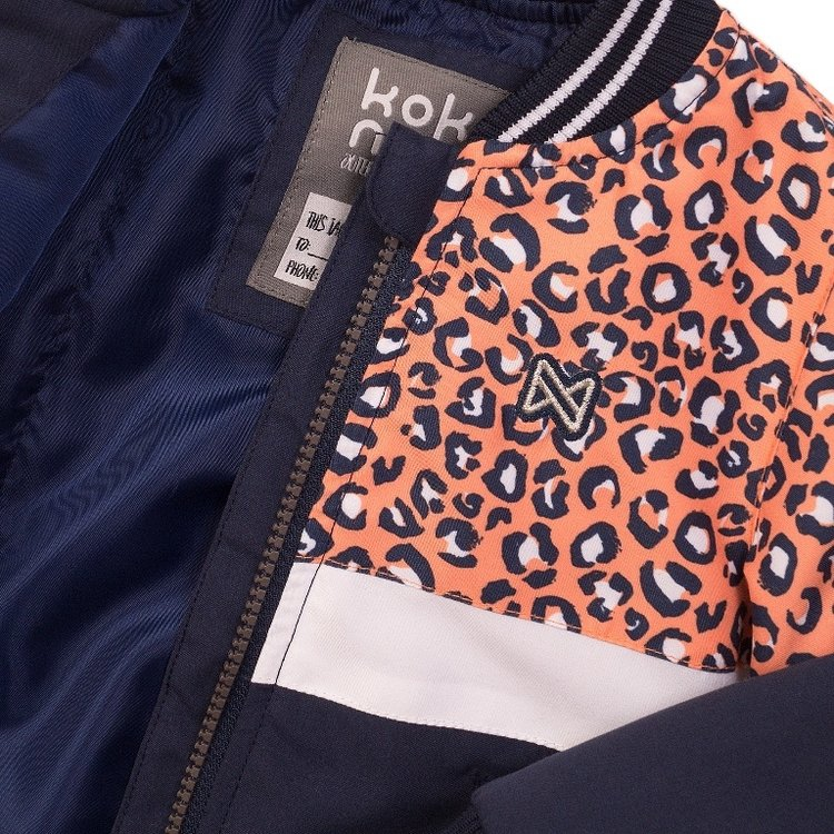 Koko Noko girls jacket orange navy | E38957-37