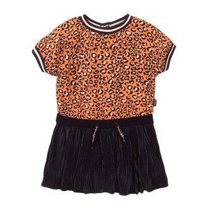 Koko Noko meisjes jurk oranje navy