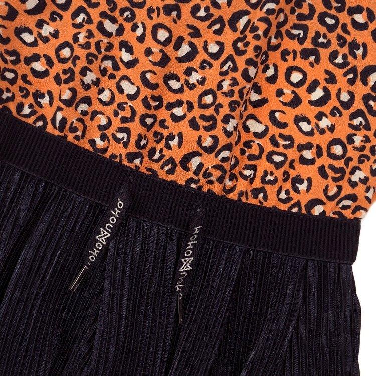 Koko Noko girls dress orange navy   E38958-37