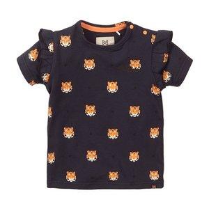 Koko Noko girls T-shirt navy tiger