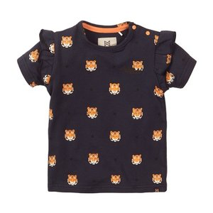 Koko Noko meisjes T-shirt navy tijger