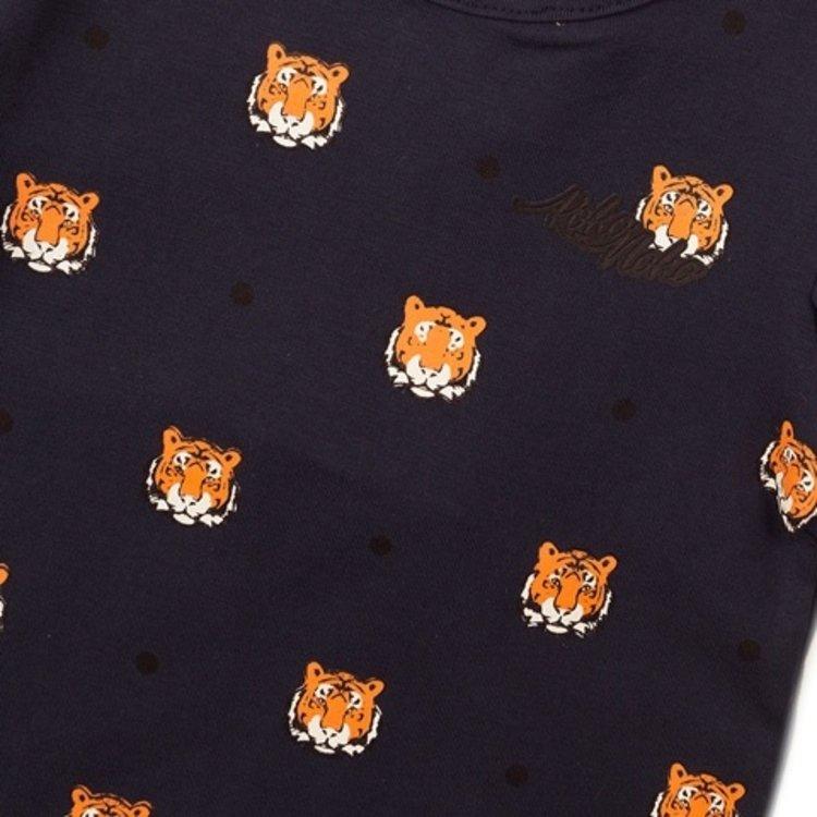Koko Noko meisjes T-shirt navy tijger | E38963-37