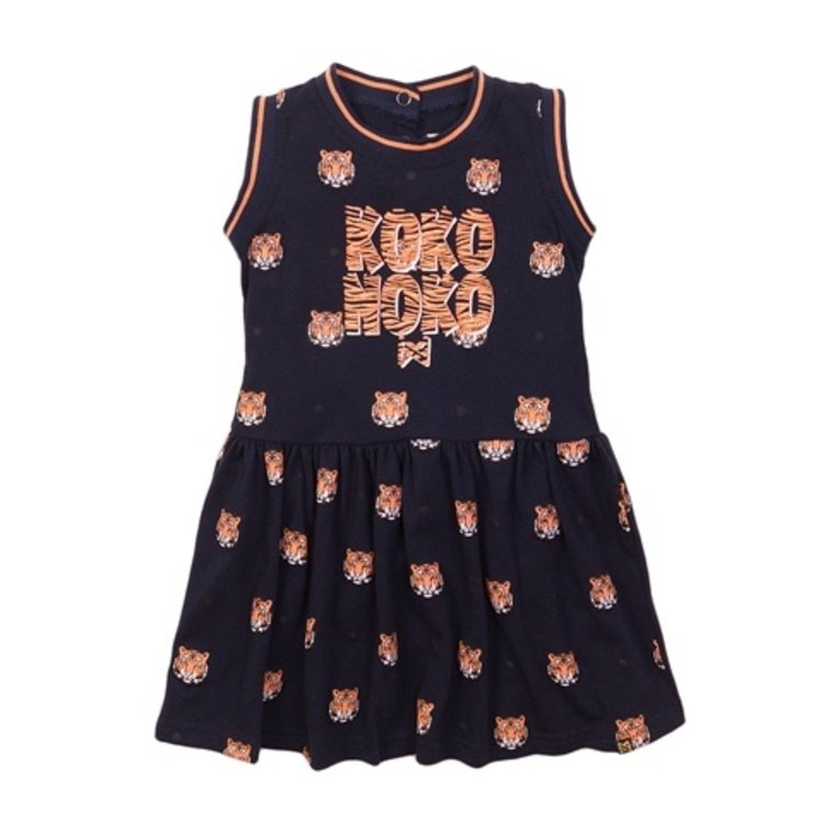 Koko Noko girls dress navy tiger | E38966-37