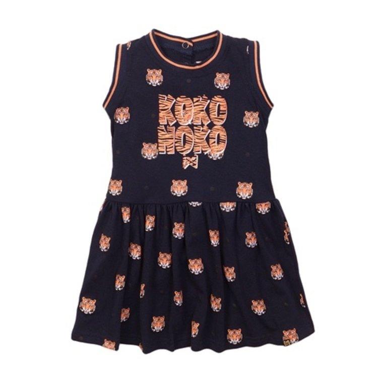 Koko Noko Mädchen Kleid navy tiger | E38966-37