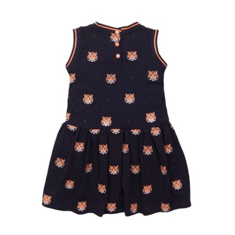 Koko Noko meisjes jurk navy tijger | E38966-37