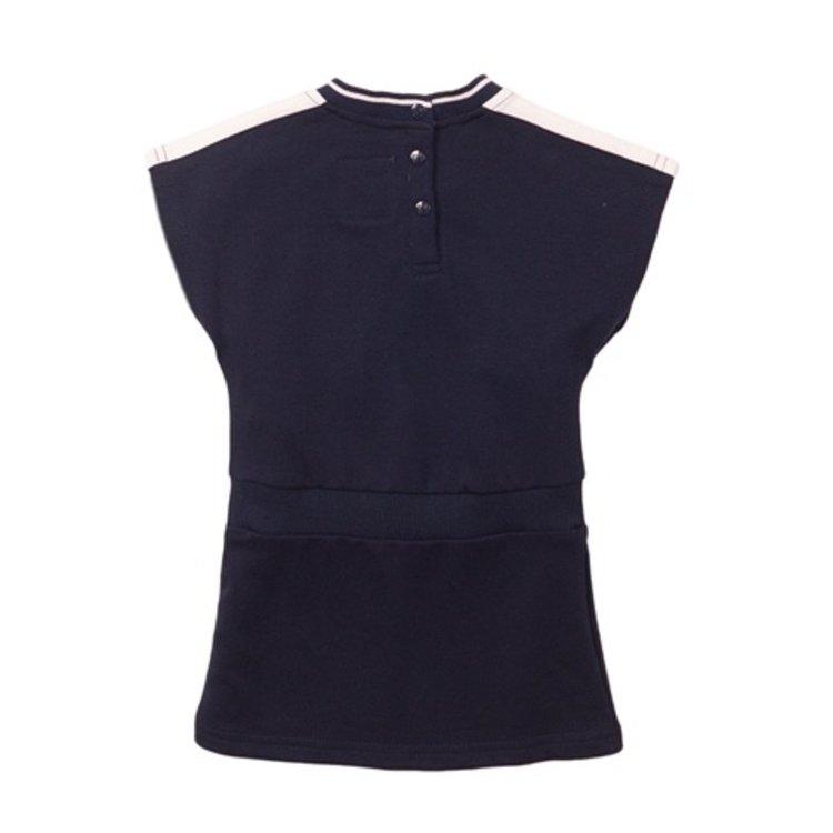 Koko Noko meisjes jurk navy wit | E38968-37