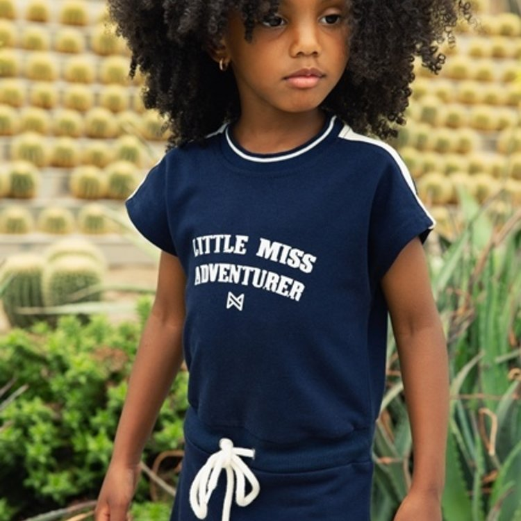 Koko Noko girls dress navy white | E38968-37