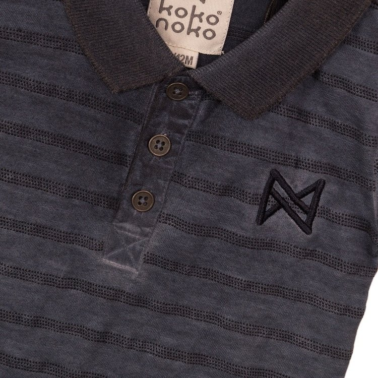 Koko Noko boys polo shirt faded blue | E38802-37