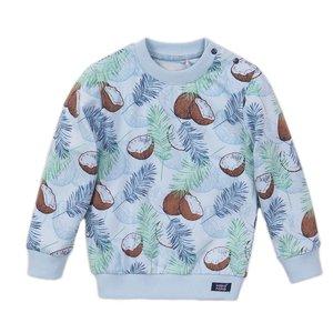 Koko Noko jongens sweater licht blauw print