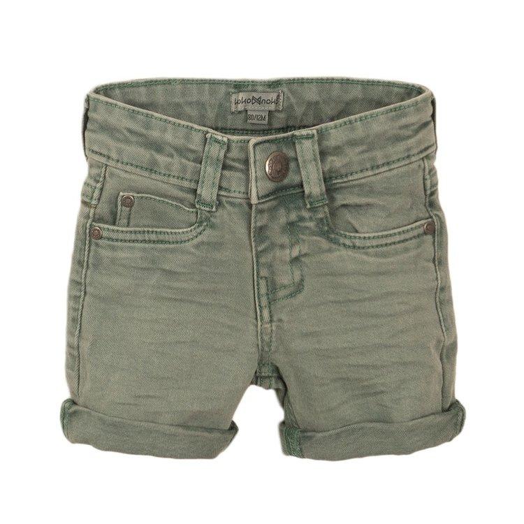 Koko Noko jongens jeans short licht groen | E38807-37