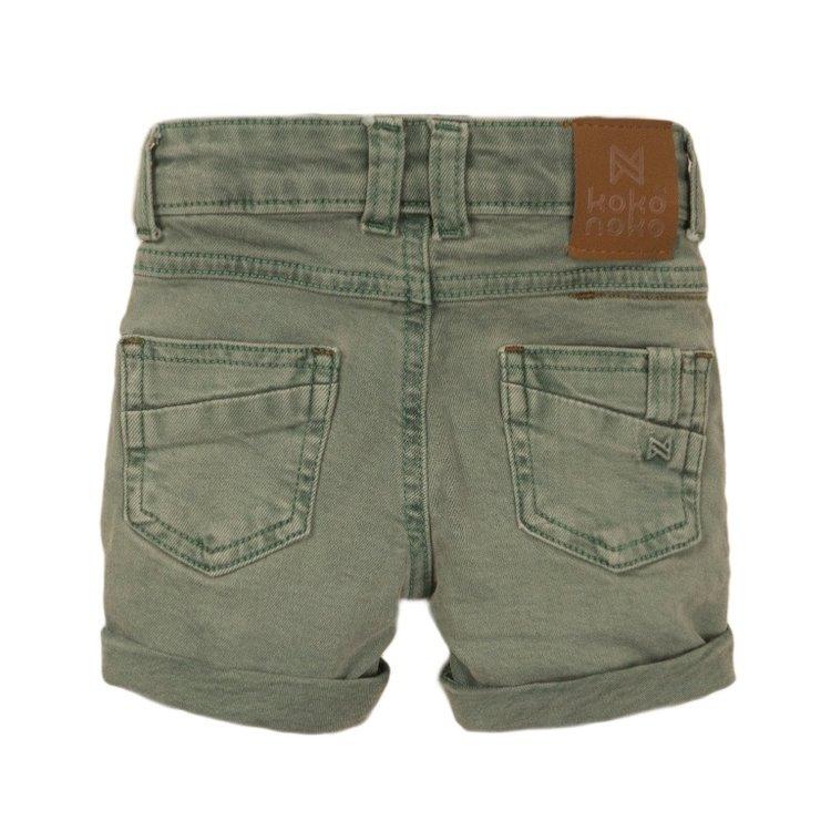 Koko Noko boys jeans short light green | E38807-37
