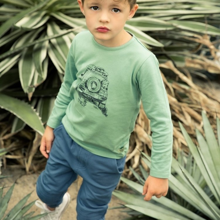 Koko Noko jongens shirt licht groen | E38808-37