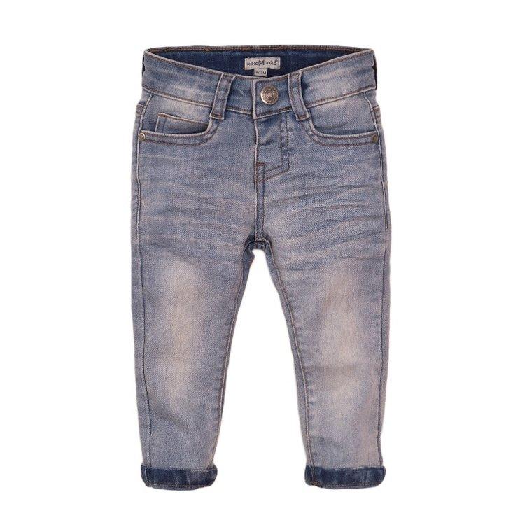 Koko Noko jongens jeans blauw met logo label | E38809-37