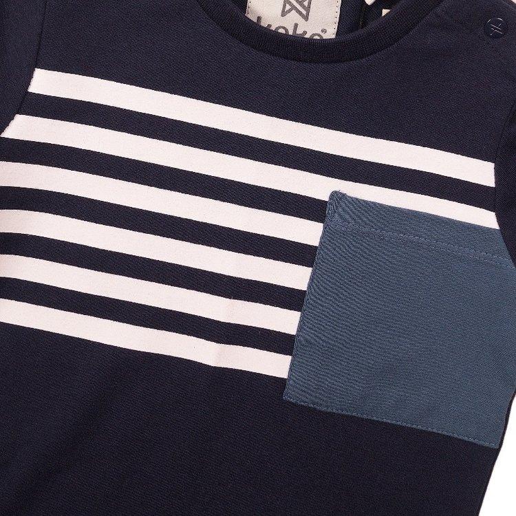 Koko Noko Jungen T-shirt navy Streifen | E38817-37