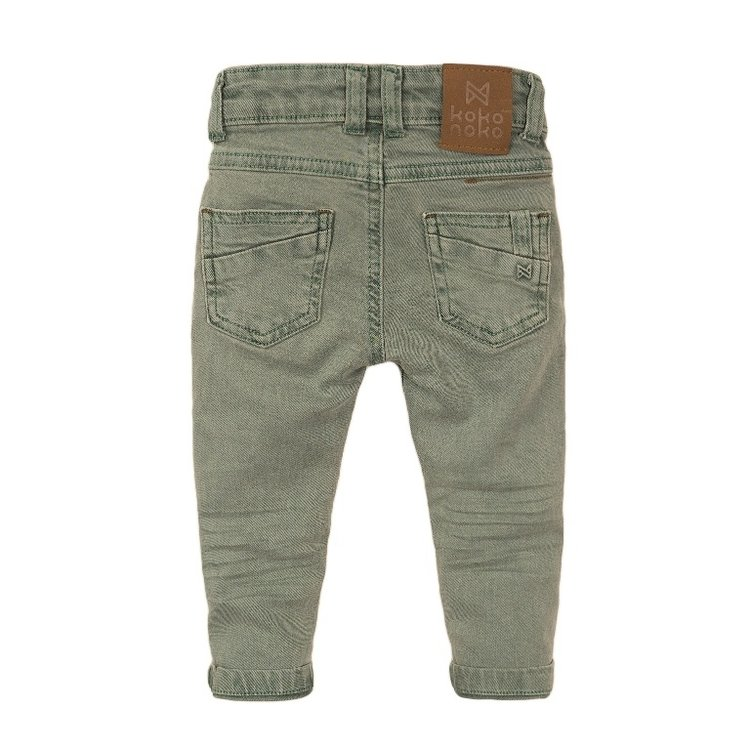 Koko Noko jongens jeans licht groen | E38821-37
