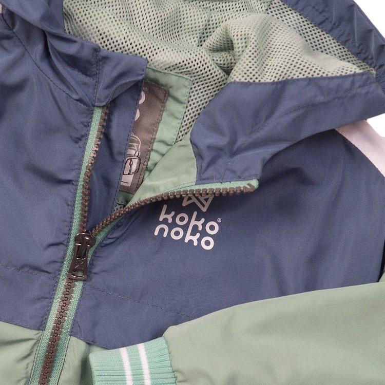 Koko Noko boys jacket blue green with hood | E38822-37
