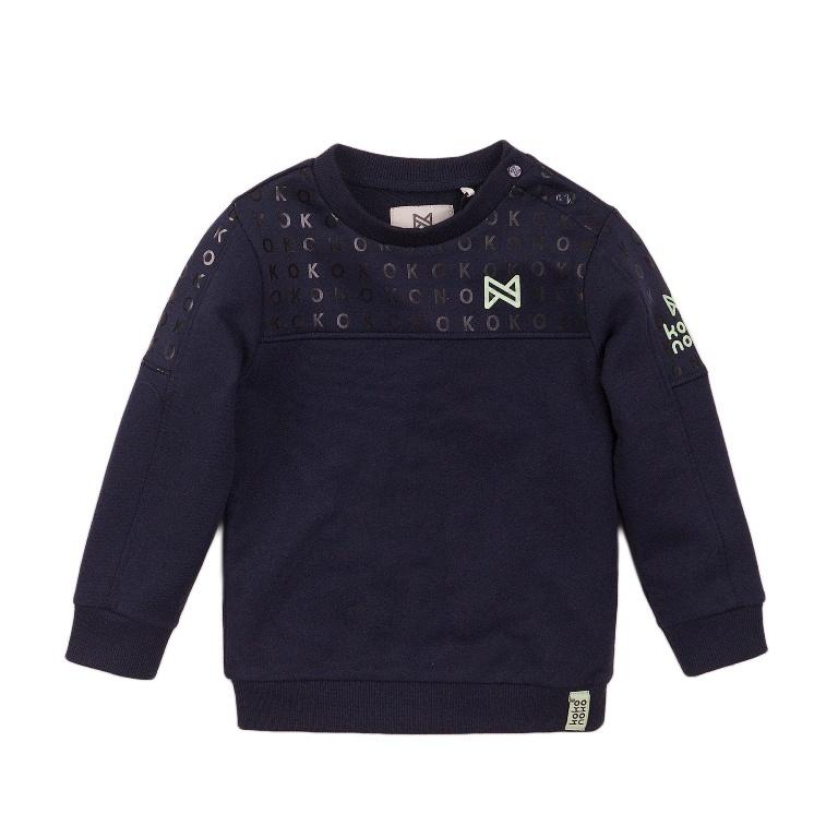 Koko Noko Koko Noko Jongens Sweater Navy Blauw