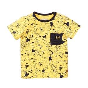 Koko Noko Jungen T-shirt gelb Druck
