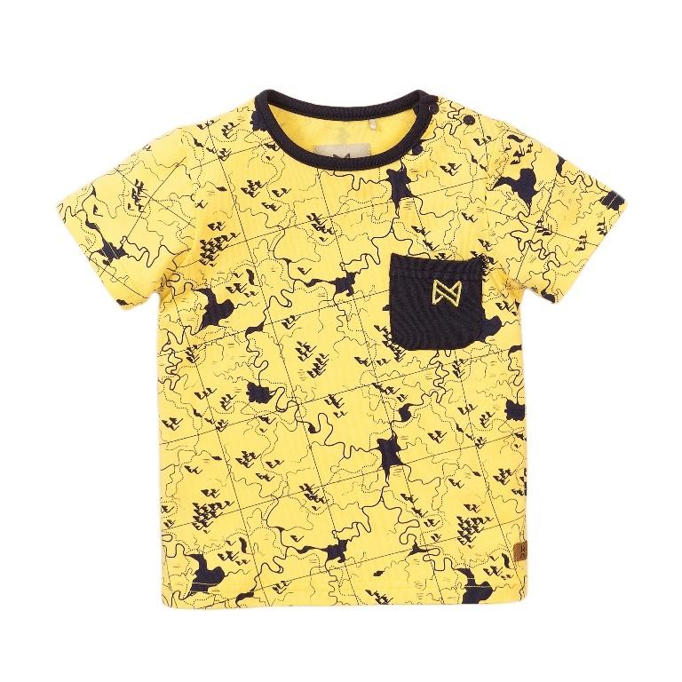 Koko Noko Jongens T-shirt Geel Print Geel